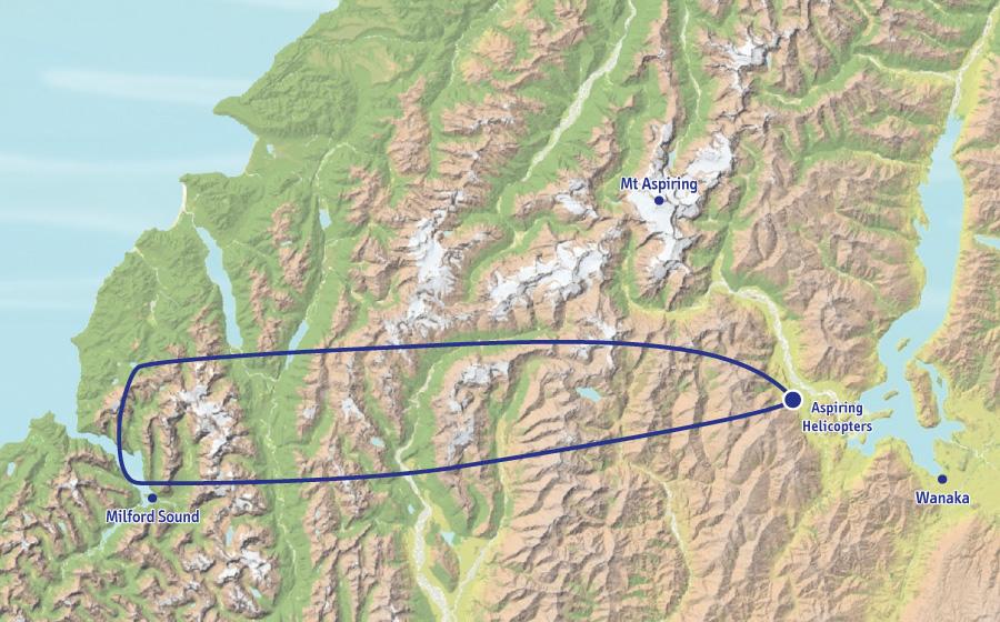 米佛峡湾观光飞行