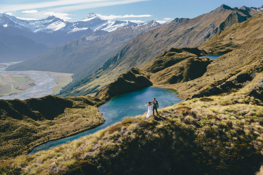 Alta Tarns Wanaka Heli Wedding