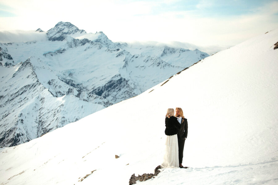 Fog Peak Wanaka Heli Wedding Winter