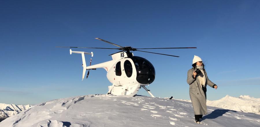 snow landing scenic helicopter flight