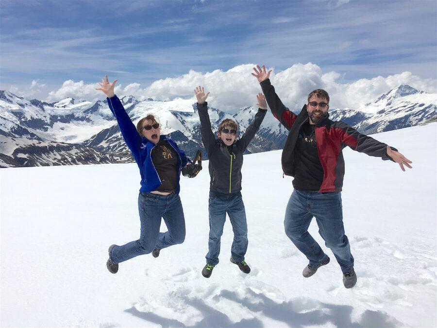 Snow Landing scenic flight